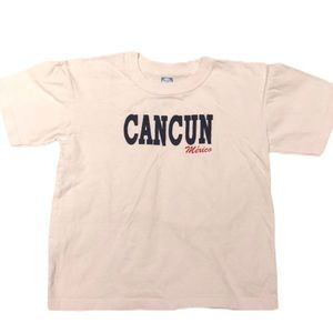 5/$25 🔴 Cancun Mexico White Graphic Tee